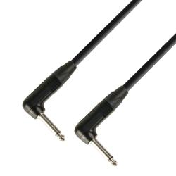 0.15 m Kabel Instrumentalny Neutrik 2x Łamany Jack mono 6,3 mm  - 5 gwiazdkowa seria Audiokabel